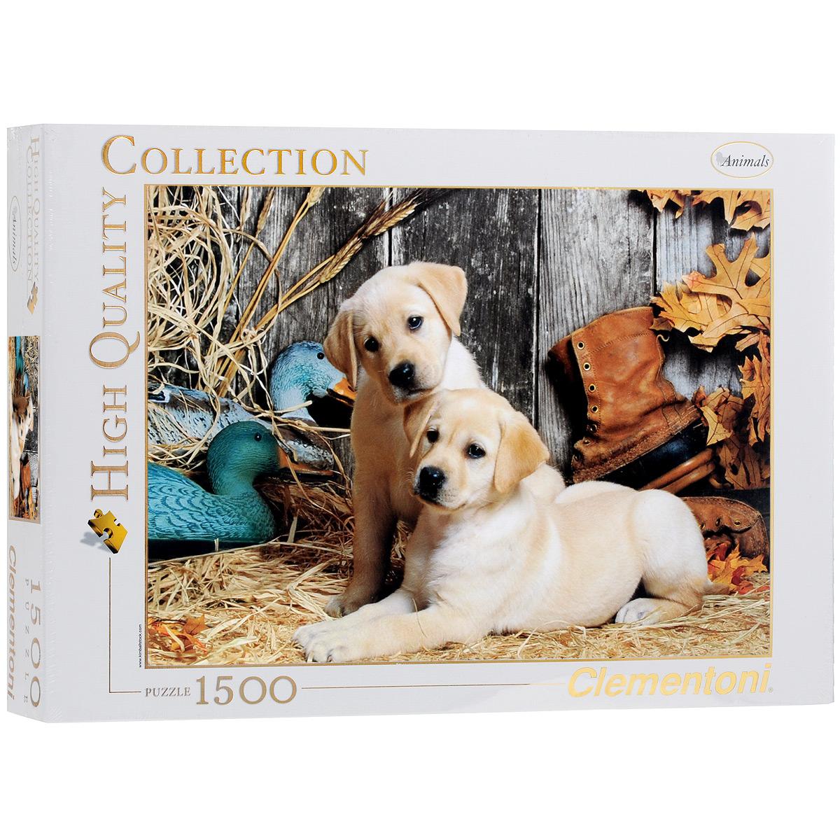Охотничьи собаки. Пазл, 1500 элементов31976Пазл Clementoni Охотничьи собаки, без сомнения, придется по душе вам и вашему ребенку. Собрав этот пазл, включающий в себя 1500 элементов, вы получите цветной оригинальный постер с изображением собак. Лабрадор является одной из самых популярных пород собак. Первоначально эта порода была выведена в качестве рабочей собаки. Порода берет свое начало на острове Ньюфаундленд на восточном побережье Канады. Пазлы - прекрасное антистрессовое средство для взрослых и замечательная развивающая игра для детей. Собирание пазла развивает у ребенка мелкую моторику рук, тренирует наблюдательность, логическое мышление, знакомит с окружающим миром, с цветом и разнообразными формами, учит усидчивости и терпению, аккуратности и вниманию. Собирание пазла - прекрасное времяпрепровождение для всей семьи.