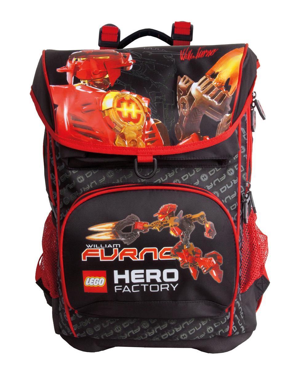 Рюкзак детский LC-01 LEGO Hero Factory 2. 501012003501012003Школьный рюкзак с двумя отделениями и внутренним карманом для тетрадей; 3 внешних кармана; эргономичный, с усиленной спинкой и мягкими ремнями; благодаря специальной системе крепления ремней часть веса рюкзака распределяется на бедра ребенка; простая система регулировки ремней; жесткое дно рюкзака; отражатели света; удобная прорезиненная ручка для переноса в руке; материал: нейлон 420D.