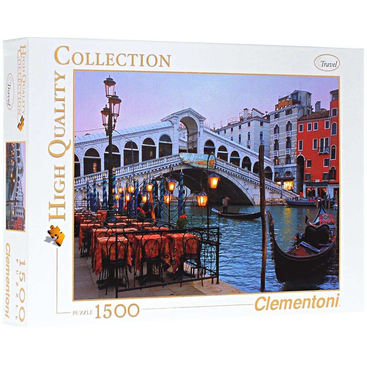 Венеция, мост. Пазл, 1500 элементов31982Пазл Clementoni Венеция, мост, без сомнения, придется по душе вам и вашему ребенку. Собрав этот пазл, включающий в себя 1500 элементов, вы получите цветной оригинальный постер с изображением моста. Жемчужина Италии - Венеция, как известно, город каналов и мостов. Его прекрасные площади и узкие улочки соединяют более чем 400 мостов, которые славятся по всему миру своим изяществом и великолепием. Пазлы - прекрасное антистрессовое средство для взрослых и замечательная развивающая игра для детей. Собирание пазла развивает у ребенка мелкую моторику рук, тренирует наблюдательность, логическое мышление, знакомит с окружающим миром, с цветом и разнообразными формами, учит усидчивости и терпению, аккуратности и вниманию. Собирание пазла - прекрасное времяпрепровождение для всей семьи.