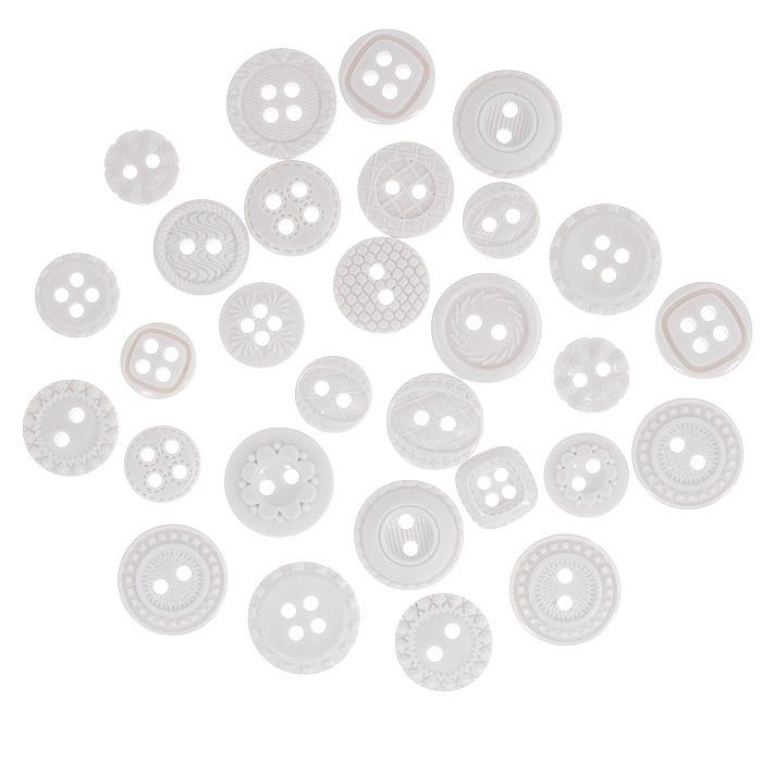Пуговицы декоративные Dress It Up Снежный день, 28 шт. 77023737702373Набор Dress It Up Снежный день состоит из 28 декоративных пуговиц, изготовленных из пластика, с помощью которых вы сможете украсить открытку, фотографию, альбом, одежду, подарок и другие предметы ручной работы. Все пуговицы в наборе имеют оригинальный и яркий дизайн.