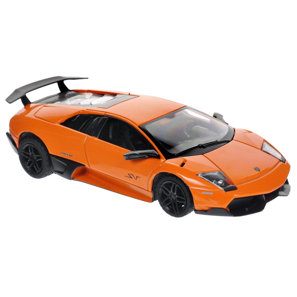 Rastar Модель автомобиля Lamborghini Murcielago LP670-4 цвет оранжевый39400Коллекционная модель Rastar Lamborghini Murcielago LP670-4 привлечет внимание вашего ребенка и не позволит ему скучать, ведь так интересно и захватывающе покатать свою машину или устроить гонку с другом. Машинка является точной уменьшенной копией настоящего автомобиля. Модель выполнена из металла с использованием пластика и оснащена прорезиненными колесами, обеспечивающими хорошее сцепление с любой поверхностью пола. Поставляется в фирменной картонной коробке с прозрачным пластиковым окошком. Ваш ребенок часами будет играть с машинкой, придумывая различные истории и устраивая соревнования. Порадуйте его таким замечательным подарком!