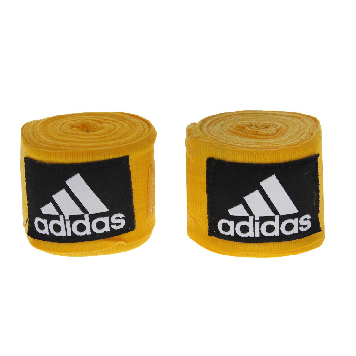 "adidas Бинт эластичный Adidas ""Boxing Crepe Bandag"", цвет: желтый, 450 см, 2 шт"