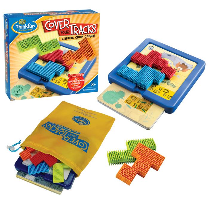 Thinkfun Головоломка Спрячь свои следы3200-RUУвлекательная головоломка Thinkfun Скользящие фишки позволит ребенку весело и с пользой провести время. Настольная игра-головоломка Скользящие фишки состоит из 40 заданий с решениями (от начинающего до эксперта), инструкция, 2 зеленые фишки, 4 синие фишки, 6 серых квадратных блоков, 1 игровое поле, мешочек для игровых принадлежностей. Цель игры - добиться того, чтобы зеленые фишки провалились в лунку в середине игрового поля, при этом, не допустить падения в лунку синих фишек. Задания имеют различные уровни сложности, от начинающего до эксперта. Такая игра надолго займет ребенка, и поможет ему раскрыть свой потенциал, научит его логическому мышлению и поспособствует развитию мелкой моторики.