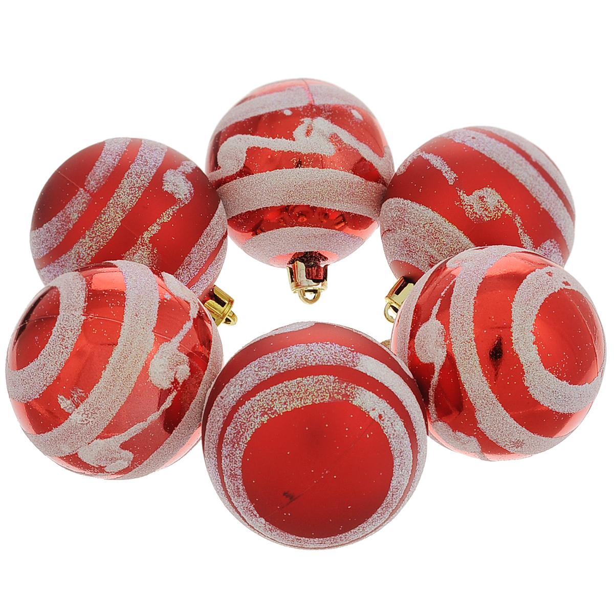 Набор новогодних подвесных украшений Шар, цвет: красный, серебристый, диаметр 6 см, 6 шт. 3550435504Набор новогодних подвесных украшений Шар прекрасно подойдет для праздничного декора новогодней ели. Состоит из шести шаров. Елочная игрушка - символ Нового года. Она несет в себе волшебство и красоту праздника. Создайте в своем доме атмосферу веселья и радости, украшая новогоднюю елку нарядными игрушками, которые будут из года в год накапливать теплоту воспоминаний. Коллекция декоративных украшений принесет в ваш дом ни с чем несравнимое ощущение волшебства! Откройте для себя удивительный мир сказок и грез. Почувствуйте волшебные минуты ожидания праздника, создайте новогоднее настроение вашим дорогим и близким.