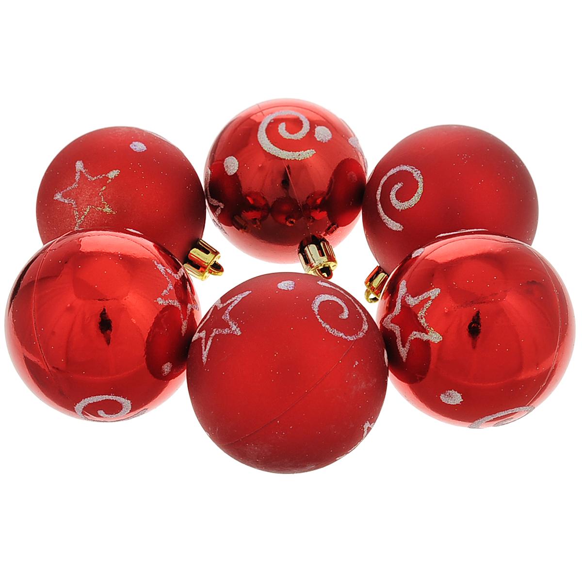 Набор новогодних подвесных украшений Шар, цвет: красный, серебристый, диаметр 6 см, 6 шт. 3550335503Набор новогодних подвесных украшений Шар прекрасно подойдет для праздничного декора новогодней ели. Состоит из шести шаров. Елочная игрушка - символ Нового года. Она несет в себе волшебство и красоту праздника. Создайте в своем доме атмосферу веселья и радости, украшая новогоднюю елку нарядными игрушками, которые будут из года в год накапливать теплоту воспоминаний. Коллекция декоративных украшений принесет в ваш дом ни с чем несравнимое ощущение волшебства! Откройте для себя удивительный мир сказок и грез. Почувствуйте волшебные минуты ожидания праздника, создайте новогоднее настроение вашим дорогим и близким.