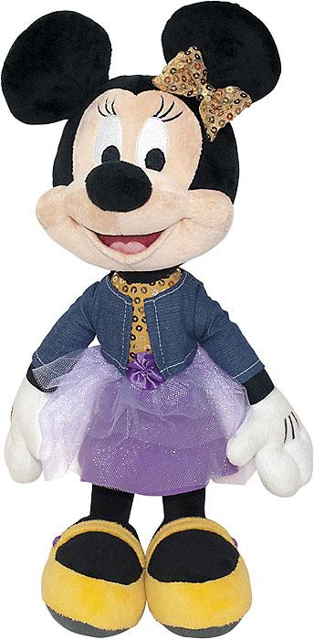Мягкая озвученная игрушка Минни Маус, 40 смDMW01\MМягкая озвученная игрушка Минни Маус станет чудесным подарком для вашего ребенка к любому празднику. Она выполнена из приятного на ощупь текстильного материала. Приветливая модница Минни Маус любит веселье и обожает музыку, а также знает себе цену. На Минни надето прекрасное платье и бантик с паетками. При нажатии на животик, Минни Маус воспроизводит следующие фразы: 1) Всем привет! Меня зовут Минни Маус! 2) Как бы не опоздать в салон красоты! 3) Разве я не прелесть? 4) До чего я тебя обожаю! 5) Ахахаха! 6) Целовашки-обнимашки! 7) Мой девиз: не унываем, а с друзьями зажигаем! Такая игрушка подарит своей обладательнице хорошее настроение и не позволит ей скучать!