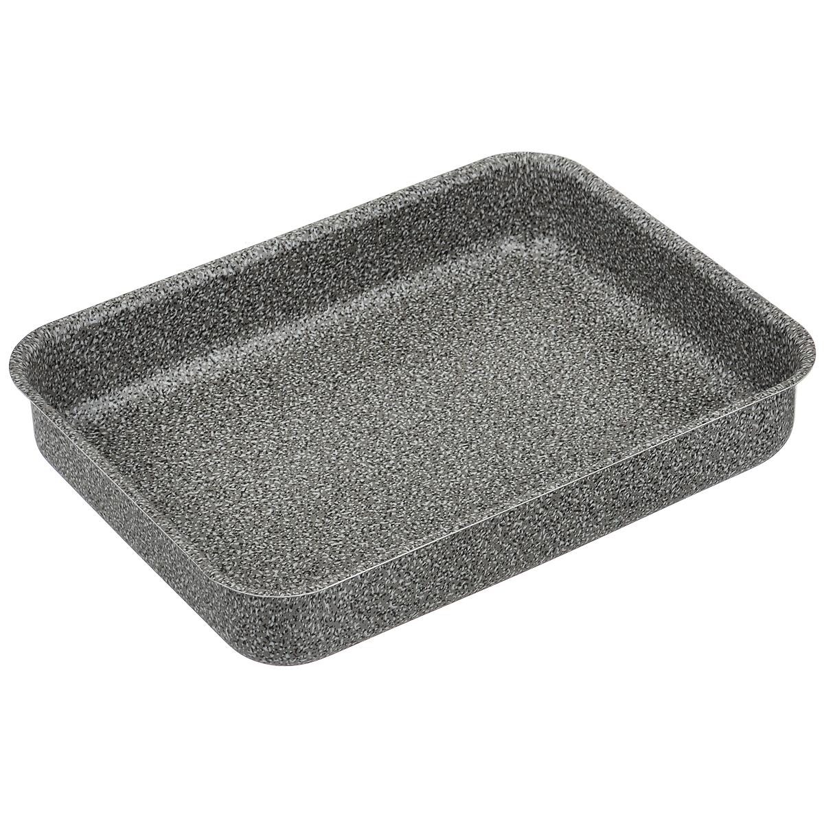 Противень для запекания Jarko, цвет: серый, 30 см х 22 смJO-11Противень Jarko изготовлен из экологичного алюминия с пятислойным внутренним и внешним антипригарным покрытием нового поколения PTFE Greblon. Сверху имеется еще 2 слоя с эффектом каменного покрытия от Weilburger. Покрытие не оставляет послевкусия, делает возможным приготовление блюд без масла, сохраняет витамины и питательные вещества. Оно обладает повышенной стойкостью к царапинам и внешним воздействиям. Внешнее декоративное покрытие выдерживает высокую температуру. Антипригарный противень - лучший современный вариант для использования в духовом шкафу. Незаменимый атрибут для приготовления запеканок, всевозможных блюд из мяса и овощей, а также выпечки из теста и изысканных кондитерских блюд. Подходит для чистки в посудомоечной машине. Не применять абразивные чистящие средства. Не использовать жесткие щетки.