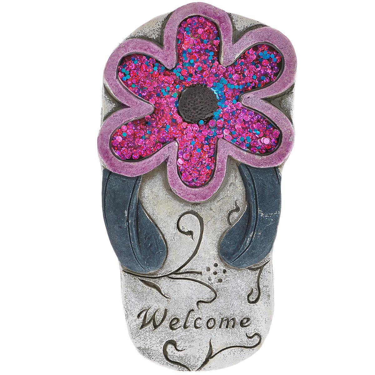 Декоративная фигурка Розовый цветок, 13 см х 25 см х 2 см28339Декоративная фигурка-28339 (цемент)26.2*14.8*2.2; арт. 28339; EAN 4606008205568