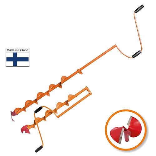 Ледобур Heinola SpeedRun Comfort, диаметр 13,5 смHL2-135-600Heinola SpeedRun - оригинальный финский ледобур, главной отличительной чертой которого является высокая скорость сверления лунок. При производстве ледобуров Heinola SpeedRun используется только самая качественная финская сталь. Режущая кромка головки сформирована путем наплавки особо твердой износостойкой нержавеющей сварочной проволоки LNM 420FM американской компании Lincoln Electric. Преимущества Heinola SpeedRun: Самая высокая скорость сверления льда. Специальная сферическая форма ножей - это минимальное усилие при сверлении льда. Очень прочные режущие ножи. Твердость стали позволяет использовать режущую головку до 5 лет без дополнительной правки и заточки - существенная экономия при эксплуатации ледобура. Бесшумное сверление льда - не распугаете свою и чужую рыбу. Универсальность: можно использовать режущие головки разных диаметров. Уникальный профиль спирали шнека очень прочен и чисто удаляет шугу из лунки. Полимерное...