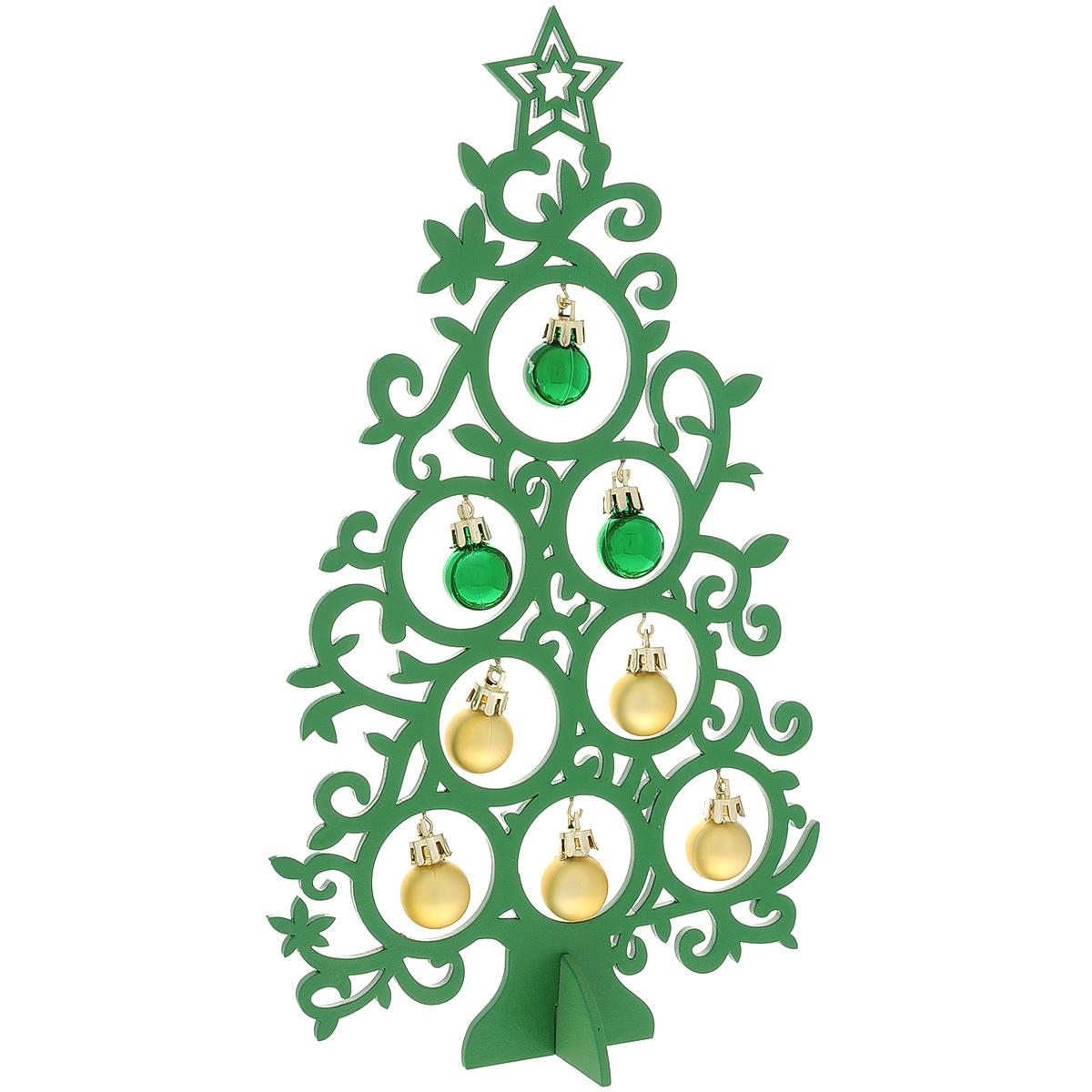 Новогодняя ель с игрушками Супер-ель, цвет: зеленый, 30 см. 3528035280Новогодняя ель с игрушками Супер-ель изготовлена из древесины тополя. В комплект к ели прилагаются пластиковые шарики, а также подставка. Красивое новогоднее украшение будет готово, стоит подвесить игрушки на елку. Новогодняя игрушка - символ Нового года. Она несет в себе волшебство и красоту праздника. Создайте в своем доме атмосферу веселья и радости, украшая новогоднюю елку нарядными игрушками, которые будут из года в год накапливать теплоту воспоминаний. Коллекция декоративных украшений принесет в ваш дом ни с чем несравнимое ощущение волшебства! Откройте для себя удивительный мир сказок и грез. Почувствуйте волшебные минуты ожидания праздника, создайте новогоднее настроение вашим дорогим и близким.