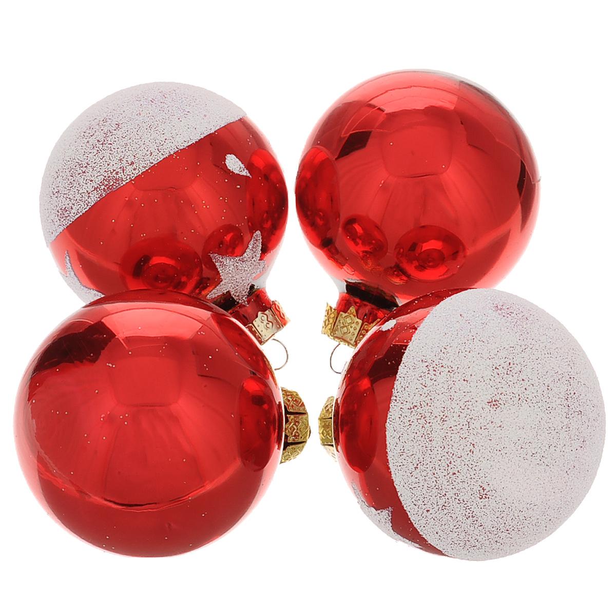 Набор новогодних подвесных украшений Шар, цвет: красный, серебристый, диаметр 6 см, 4 шт. 3449934499Набор новогодних подвесных украшений Шар прекрасно подойдет для праздничного декора новогодней ели. Состоит из четырех шаров. Елочная игрушка - символ Нового года. Она несет в себе волшебство и красоту праздника. Создайте в своем доме атмосферу веселья и радости, украшая новогоднюю елку нарядными игрушками, которые будут из года в год накапливать теплоту воспоминаний. Коллекция декоративных украшений принесет в ваш дом ни с чем несравнимое ощущение волшебства! Откройте для себя удивительный мир сказок и грез. Почувствуйте волшебные минуты ожидания праздника, создайте новогоднее настроение вашим дорогим и близким.
