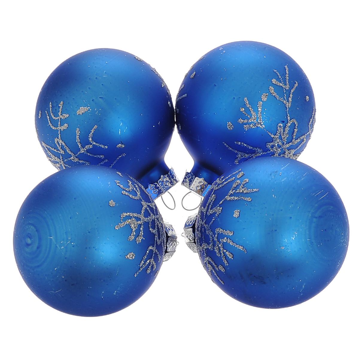 Набор новогодних подвесных украшений Шар, цвет: серебристый, синий, диаметр 6 см, 4 шт. 3449534495Набор новогодних подвесных украшений Шар прекрасно подойдет для праздничного декора новогодней ели. Состоит из четырех шаров. Елочная игрушка - символ Нового года. Она несет в себе волшебство и красоту праздника. Создайте в своем доме атмосферу веселья и радости, украшая новогоднюю елку нарядными игрушками, которые будут из года в год накапливать теплоту воспоминаний. Коллекция декоративных украшений принесет в ваш дом ни с чем несравнимое ощущение волшебства! Откройте для себя удивительный мир сказок и грез. Почувствуйте волшебные минуты ожидания праздника, создайте новогоднее настроение вашим дорогим и близким.