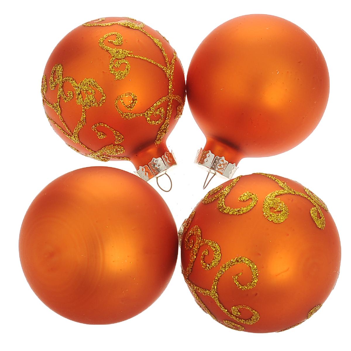 Набор новогодних подвесных украшений Шар, цвет: золотистый, диаметр 6 см, 4 шт. 3448834488Набор новогодних подвесных украшений Шар прекрасно подойдет для праздничного декора новогодней ели. Состоит из четырех шаров. Елочная игрушка - символ Нового года. Она несет в себе волшебство и красоту праздника. Создайте в своем доме атмосферу веселья и радости, украшая новогоднюю елку нарядными игрушками, которые будут из года в год накапливать теплоту воспоминаний. Коллекция декоративных украшений принесет в ваш дом ни с чем несравнимое ощущение волшебства! Откройте для себя удивительный мир сказок и грез. Почувствуйте волшебные минуты ожидания праздника, создайте новогоднее настроение вашим дорогим и близким.