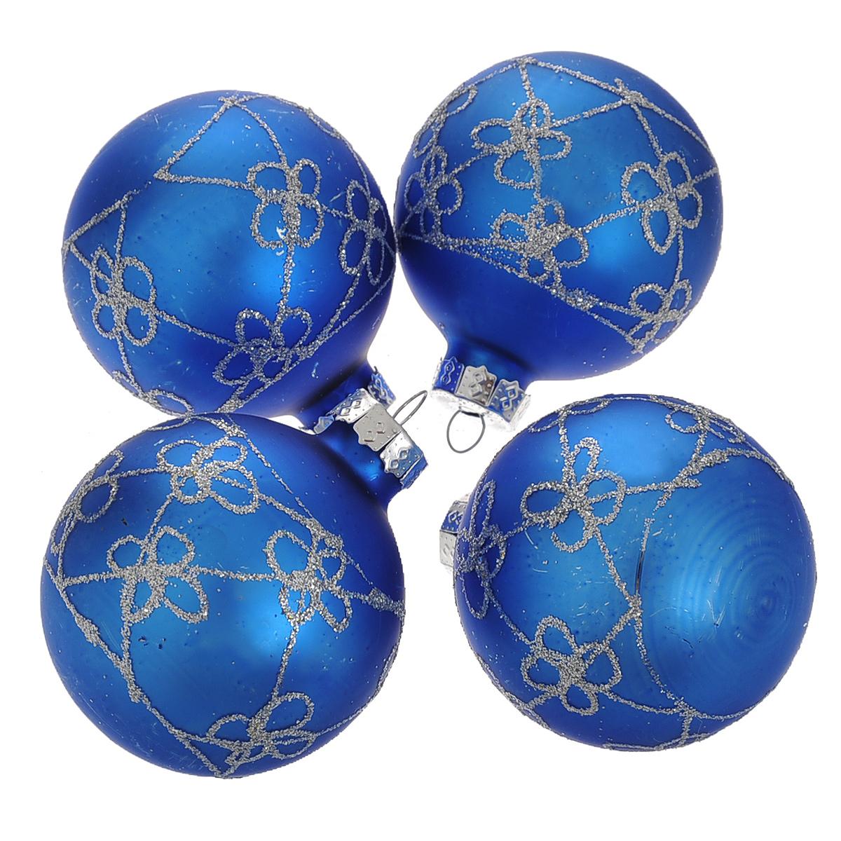 Набор новогодних подвесных украшений Шар, цвет: серебристый, синий, диаметр 6 см, 4 шт. 3449234492Набор новогодних подвесных украшений Шар прекрасно подойдет для праздничного декора новогодней ели. Состоит из четырех шаров. Елочная игрушка - символ Нового года. Она несет в себе волшебство и красоту праздника. Создайте в своем доме атмосферу веселья и радости, украшая новогоднюю елку нарядными игрушками, которые будут из года в год накапливать теплоту воспоминаний. Коллекция декоративных украшений принесет в ваш дом ни с чем несравнимое ощущение волшебства! Откройте для себя удивительный мир сказок и грез. Почувствуйте волшебные минуты ожидания праздника, создайте новогоднее настроение вашим дорогим и близким.
