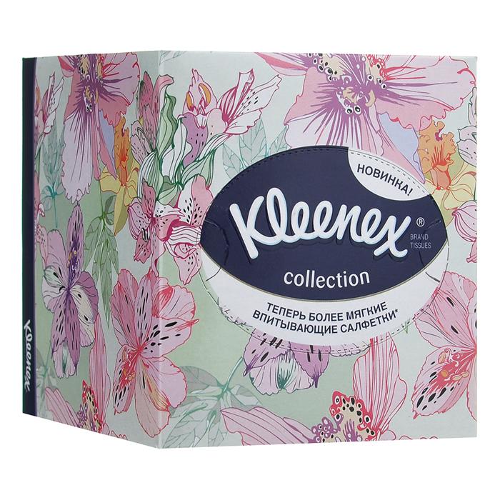 """Салфетки универсальные Kleenex """"Collection"""", двухслойные, 21,6 х 21,6 см, 100 шт (упаковка в ассортименте)"""