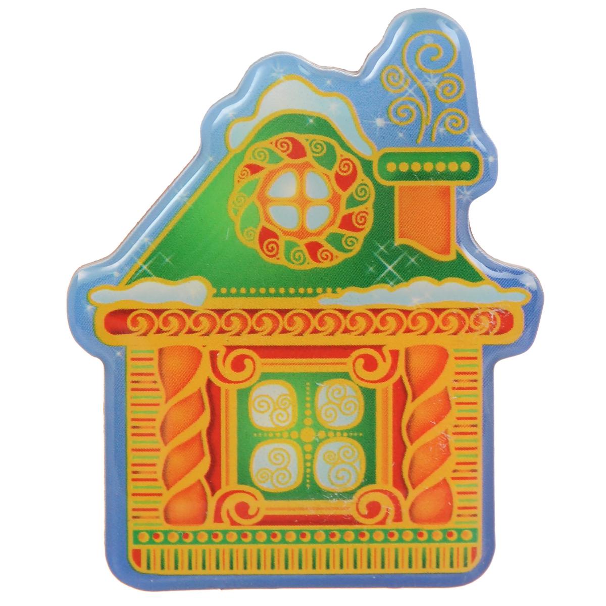 Декоративный магнит Домик, 5,5 см х 6,5 см. 3154031540Декоративный магнит Домик изготовлен из агломерированного феррита. Изделие выполнено в виде домика. Коллекция декоративных украшений из серии Magic Time принесет в ваш дом ни с чем несравнимое ощущение волшебства! Материал: агломерированный феррит.