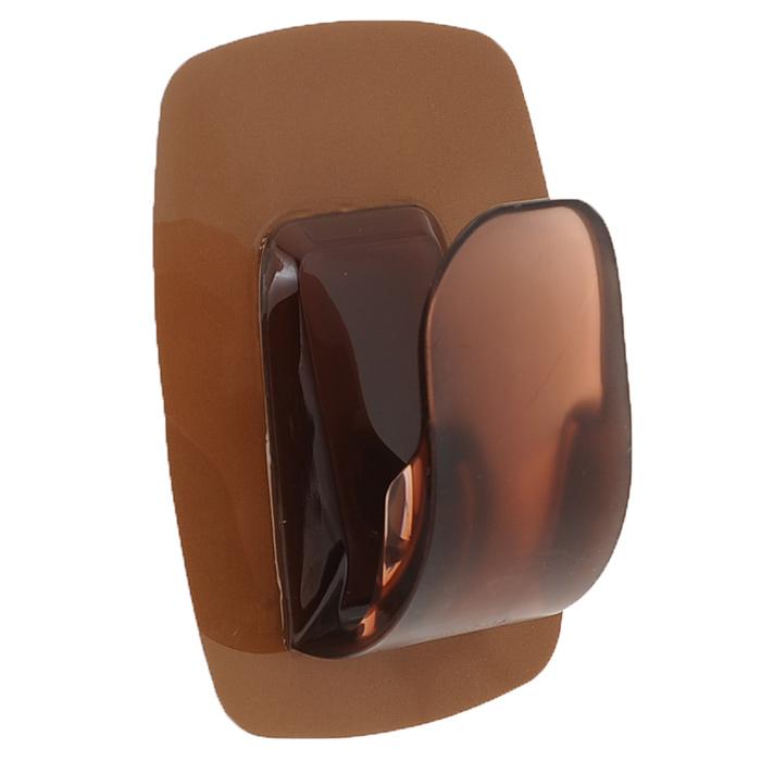 Держатель для губок Marna Sofis, цвет: коричневыйK485BRАккуратный и компактный держатель для губок Marna Sofis выполнен из поликарбоната и ПВХ. Благодаря липкой основе из стирола эластомера прочно крепится к таким поверхностям как стекло, нержавеющая сталь, пластик, плитка, при этом не оставляя жирных следов. Способствует скорейшему высыханию губки (таким образом, в губке не будут скапливаться бактерии и не возникнет неприятного запаха). Удобен в использовании, экономит место, легко промывается. Имеет прочный каркас и оригинальный дизайн. Материалы: поливинилхлорид, сополимеров стирола эластомеры, поликарбонат.