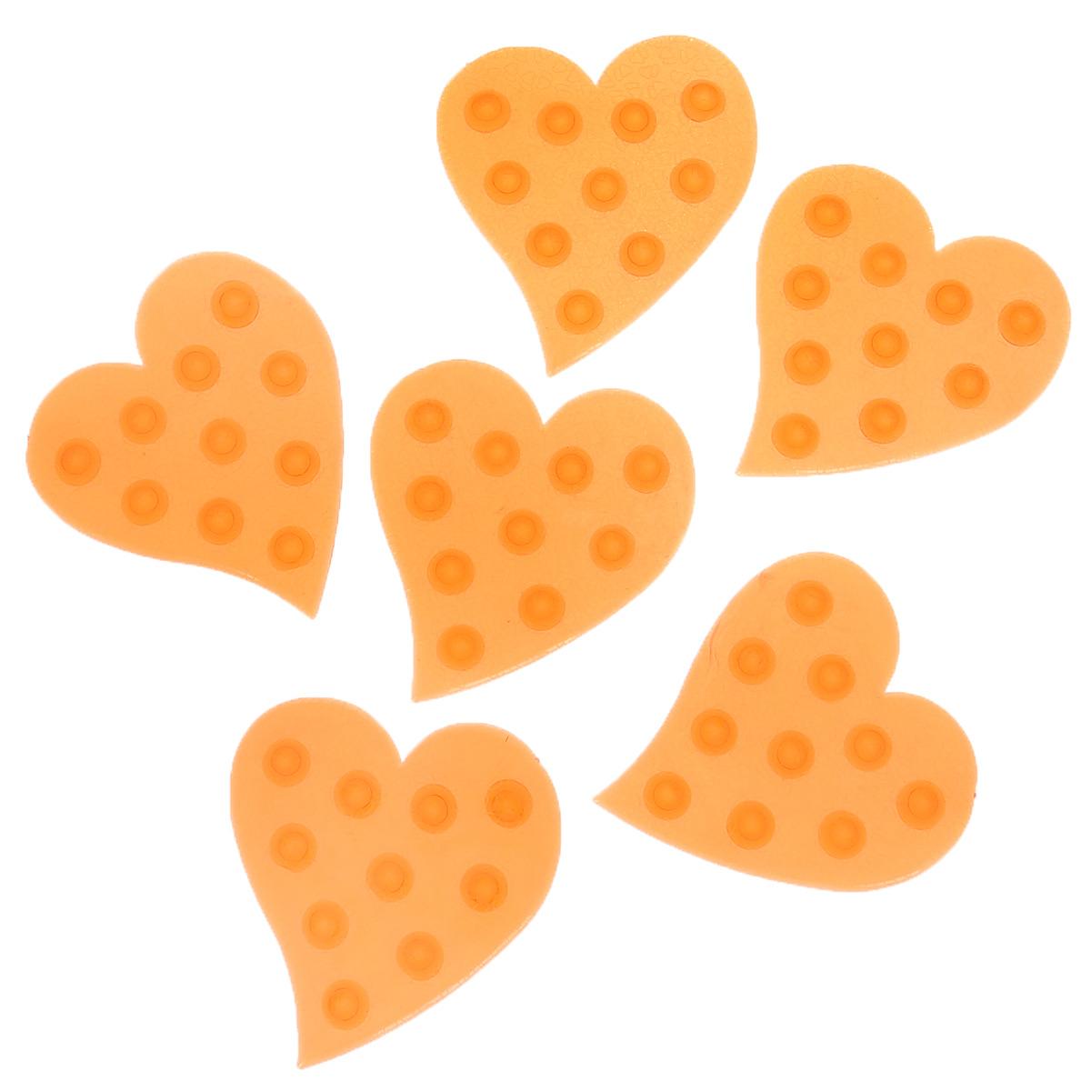 Набор мини-ковриков для ванной Dom Company Сердце, цвет: красный, 6 шт.837-018Набор Dom Company Сердце состоит из шести мини-ковриков для ванной, изготовленных из 100% полимерных материалов в форме сердец. Коврики оснащены присосками, предотвращающими скольжение. Их можно крепить на дно ванны или использовать как декор для плитки. Коврики легко чистить.
