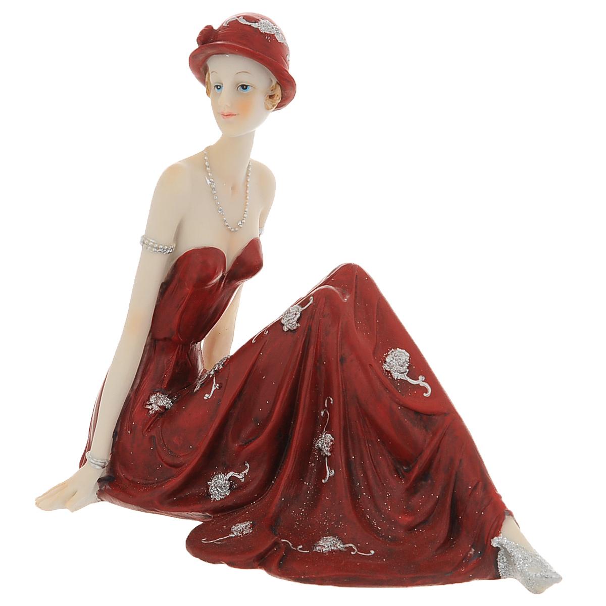 Статуэтка Molento Леди в красном платье, высота 16 см512-149