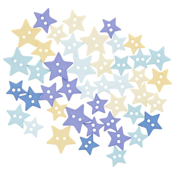 Пуговицы декоративные Dress It Up Вечернее небо, 18 шт. 77024917702491Набор Dress It Up Вечернее небо состоит из 18 декоративных пуговиц, выполненных из пластика в форме звездочек различных цветов и размеров. Такие пуговицы подходят для любых видов творчества: скрапбукинга, декорирования, шитья, изготовления кукол, а также для оформления одежды. С помощью них вы сможете украсить открытку, фотографию, альбом, подарок и другие предметы ручной работы. Пуговицы разных цветов имеют оригинальный и яркий дизайн.