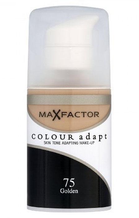 Max Factor Тональный крем Colour Adapt, тон 75 Golden (Золотой), 34 мл80957268Не скрывайте свой естественный цвет лица. Подчеркните его! Тональный крем Colour Adapt благотворно воздействует и прорабатывает оттенок каждого участка кожи вашего лица, создавая самую естественную основу для макияжа. Умные частицы, адаптирующиеся к цвету поверхности, выявляют и отражают разнообразные пигменты кожи лица, придавая ей совершенно естественный вид, не скрывая природного сияния. Товар сертифицирован.