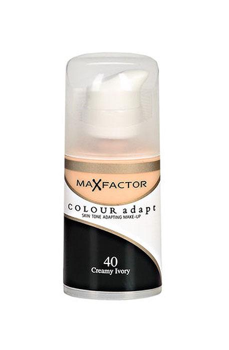 Max Factor Тональный крем Colour Adapt, тон 40 Creamy Ivory (Слоновая кость), 34 мл80957262Не скрывайте свой естественный цвет лица. Подчеркните его! Тональный крем Colour Adapt благотворно воздействует и прорабатывает оттенок каждого участка кожи вашего лица, создавая самую естественную основу для макияжа. Умные частицы, адаптирующиеся к цвету поверхности, выявляют и отражают разнообразные пигменты кожи лица, придавая ей совершенно естественный вид, не скрывая природного сияния. Товар сертифицирован.