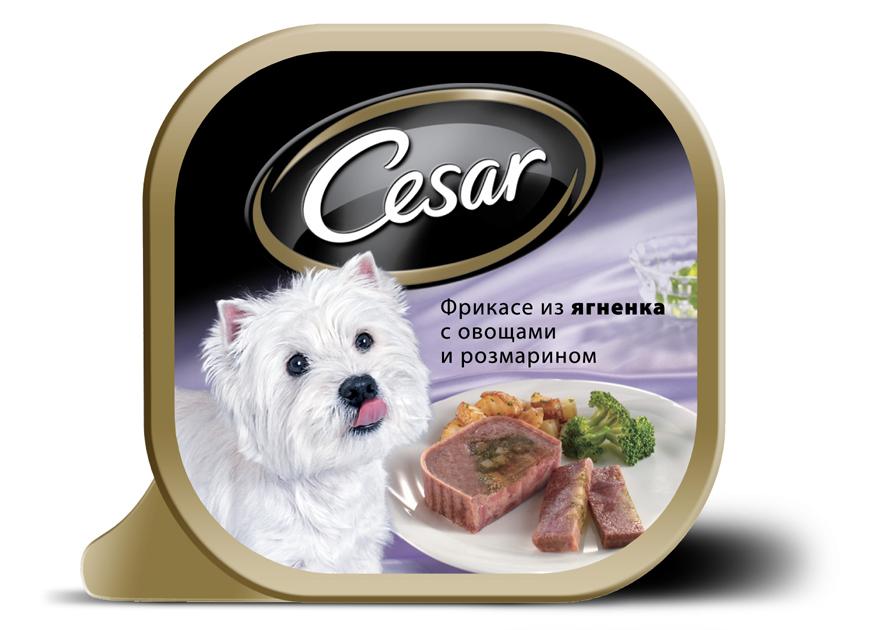 Консервы Cesar, для взрослых собак мелких пород, фрикасе из ягненка с овощами и розмарином, 100 г10221Консервы Cesar - это полнорационный консервированный корм для взрослых собак мелких пород. Консервы представляют собой аппетитные кусочки мяса в подливе. Кроме того, в их состав входят овощи и ароматные травы, поэтому Cesar придется по душе даже самым привередливым собакам. Консервы приготовлены исключительно из натурального сырья. Не содержат искусственных красителей, консервантов и усилителей вкуса. Состав: ягненок (минимум 21%), курица, говядина, овощи (картофель - 4,3%, брокколи - 2,5%), растительное масло, розмарин, витамины и минеральные вещества. Пищевая ценность в 100 г: белки - 7,5 г, жир - 3,5 г, зола - 0,3 г, клетчатка - максимум 0,4 г, влага 85 г. Энергетическая ценность в 100 г: 70 ккал. Товар сертифицирован.