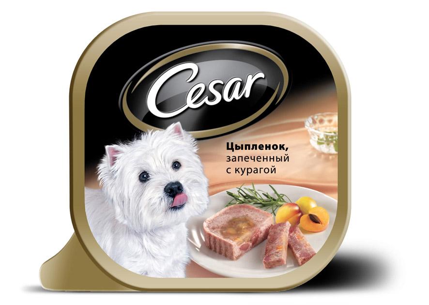 Консервы Cesar, для взрослых собак мелких пород, цыпленок с курагой, 100 г10222Консервы Cesar - это полнорационный консервированный корм для взрослых собак мелких пород. Консервы представляют собой аппетитные кусочки мяса в подливе. Кроме того, в их состав входят овощи и ароматные травы, поэтому Cesar придется по душе даже самым привередливым собакам. Консервы приготовлены исключительно из натурального сырья. Не содержат искусственных красителей, консервантов и усилителей вкуса. Состав: курица (минимум 27%), говядина, ягненок, курага (минимум 3,2%), растительное масло, розмарин, витамины и минеральные вещества. Пищевая ценность в 100 г: белки - 7,5 г, жир - 3,5 г, зола - 0,3 г, клетчатка - максимум 0,4 г, влага 85 г. Энергетическая ценность в 100 г: 70 ккал. Товар сертифицирован.
