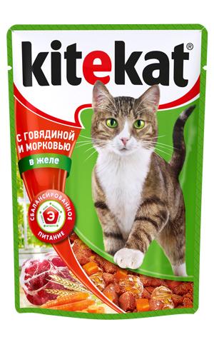 Консервы Kitekat для взрослых кошек, с говядиной и морковью в желе, 100 г25398Консервы для взрослых кошек Kitekat - полнорационный сбалансированный корм для кошек, который идеально подойдет вашему любимцу. Корм приготовлен по особому рецепту, в его основе - формула сбалансированного питания, которая содержит белки, минералы, витамины, таурин, и животные жиры. Kitekat - это идеальный источник жизненных сил для кошки. Порадуйте вашего питомца обновленным меню в пакетиках. В каждой порции - только качественные продукты, как и те, что хранятся на вашей кухне. Корм не содержит сои, консервантов, ароматизаторов, искусственных красителей, усилителей вкуса. Состав: мясо и субпродукты (в том числе говядина минимум 4%), овощи (морковь минимум 4%), злаки, таурин, витамины, минеральные вещества. Анализ: белки - 6,5 г, жиры - 3,5 г, клетчатка - 0,5 г, зола - 2,5 г, витамин А - не менее 70 МЕ мг, витамин Е - не менее 0,9 мг, влага - 84 г. Вес 100 г. Товар сертифицирован.