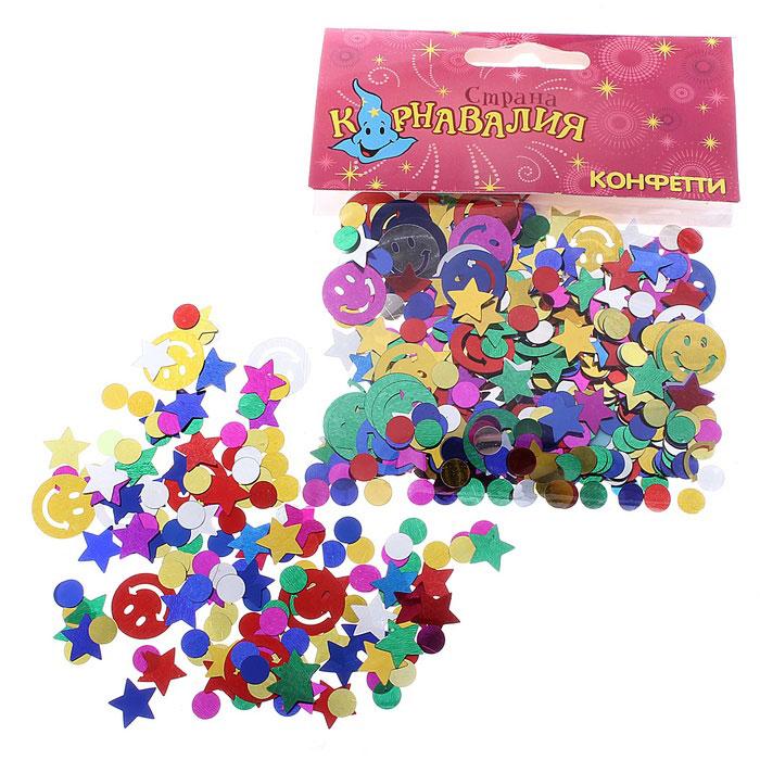 Новогоднее конфетти Sima-land Смайл и звезды, 14 г. 324189324189Новогоднее конфетти Sima-land Смайл и звезды выполнено из высококачественной фольги в форме смайла, звезды и круга. Это чудесное украшение принесет в ваш дом или офис незабываемую атмосферу праздничного веселья! Вес упаковки: 14 г. Материал: фольга. Средний размер: 1 см х 1 см.