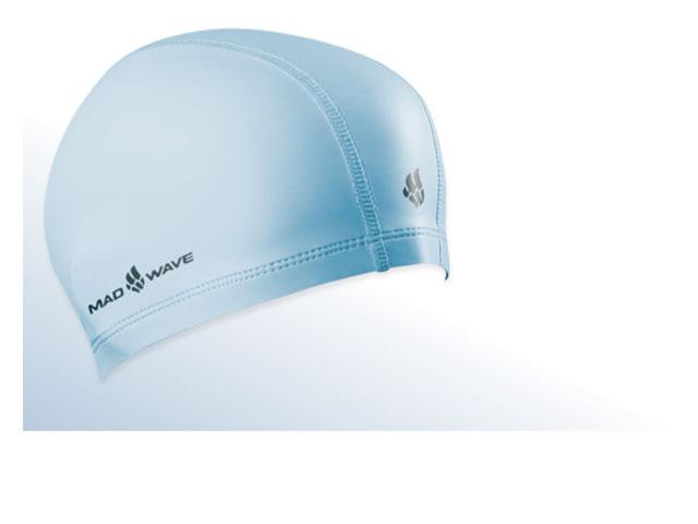 Шапочка для плавания Mad Wave PUT Coated, цвет: голубой10007078Текстильная шапочка Mad Wave PUT Coated с полиуретановым покрытием. Лучший выбор для ежедневных тренировок. Легкая и эргономичая. Легко снимается и надевается, хорошо садится по форме головы и очень комфортна, благодаря комбинации нескольких материалов.