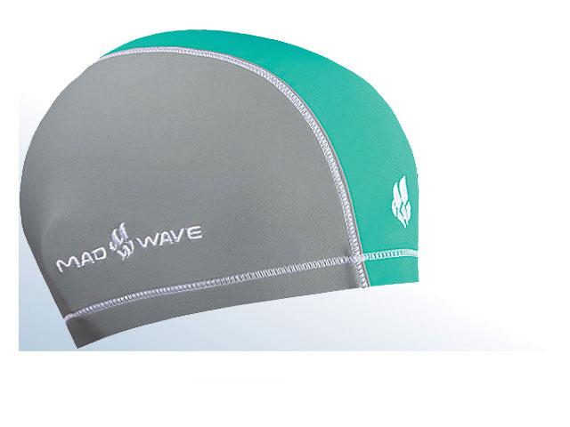 Шапочка для плавания Mad Wave Lycra Doutone, цвет: серый, бирюзовый10013304Текстильная шапочка для плавания Mad Wave Lycra Doutone с добавлением лайкры. Предназначена для ежедневных тренировок. Не повреждает волосы. Широкая резинка обеспечивает меньшее давление на голову.