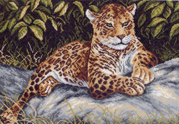 Канва с рисунком для вышивания Леопард, 37 х 49 см 671551049Канва с рисунком для вышивания Леопард изготовлена из хлопка. Вышивка выполняется в технике полный крестик в 2-3 нити или полукрестом в 4 нити. Создайте свой личный шедевр - красивую вышитую картину. Работа, выполненная своими руками, станет отличным подарком для друзей и близких! УВАЖАЕМЫЕ КЛИЕНТЫ! Обращаем ваше внимание, на тот факт, что цвет символа на ткани может отличаться от реального цвета нити мулине. Рекомендуемое количество цветов: 13.