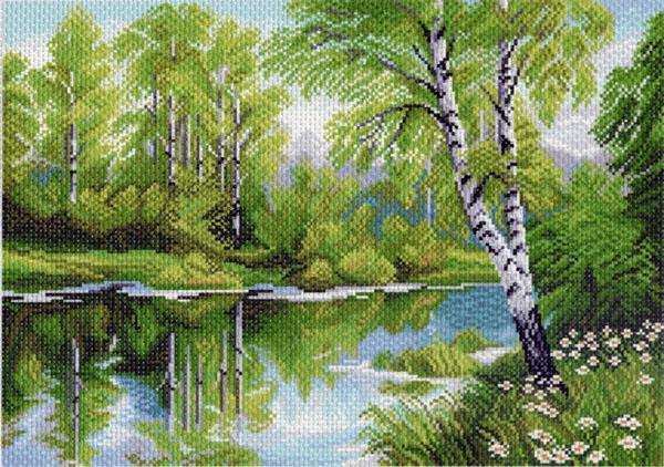 Канва с рисунком для вышивания Березы, 37 х 49 см 1020549851Канва с рисунком для вышивания Березы изготовлена из хлопка. Вышивка выполняется в технике полный крестик в 2-3 нити или полукрестом в 4 нити. Создайте свой личный шедевр - красивую вышитую картину. Работа, выполненная своими руками, станет отличным подарком для друзей и близких! УВАЖАЕМЫЕ КЛИЕНТЫ! Обращаем ваше внимание, на тот факт, что цвет символа на ткани может отличаться от реального цвета нити мулине. Рекомендуемое количество цветов: 21.