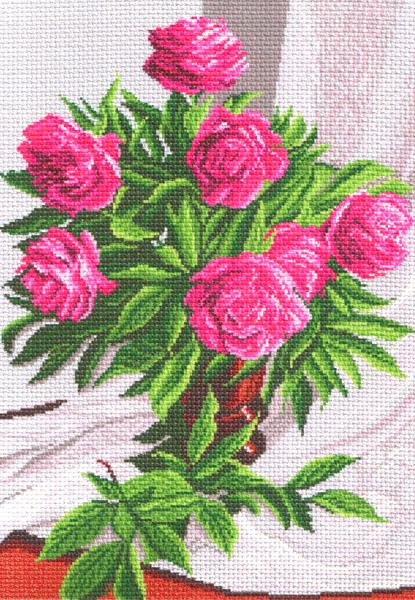 Канва с рисунком для вышивания Розы, 37 см х 49 см. 826551070Канва с рисунком для вышивания Розы изготовлена из хлопка. Вышивка выполняется в технике полный крестик в 2-3 нити или полукрестом в 4 нити. Создайте свой личный шедевр - красивую вышитую картину. Работа, выполненная своими руками, станет отличным подарком для друзей и близких! УВАЖАЕМЫЕ КЛИЕНТЫ! Обращаем ваше внимание, на тот факт, что цвет символа на ткани может отличаться от реального цвета нити мулине. Рекомендуемое количество цветов: 20.