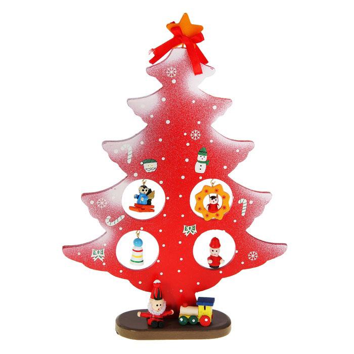 Украшение новогоднее Sima-land Ель на подставке, 28,5 см. 154276154276Новогоднее украшение Sima-land Ель на подставке, изготовленное из дерева, отлично подойдет для декорации вашего дома. Украшение выполнено в виде заснеженной ели на подставке. Елка украшена снежинками, верхушкой-звездой и новогодними игрушками, которые подвешиваются на металлические крючки. Новогодние украшения всегда несут в себе волшебство и красоту праздника. Создайте в своем доме атмосферу тепла, веселья и радости, украшая его всей семьей.