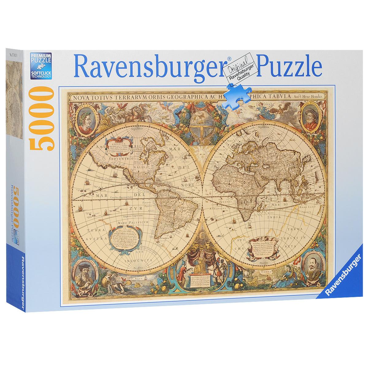 Ravensburger Историческая карта. Пазл, 5000 элементов