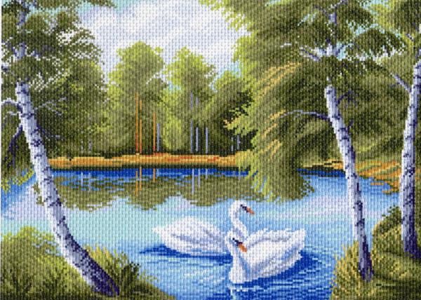 Канва с рисунком для вышивания Лебеди, 37 х 49 см 923551099Канва с рисунком для вышивания Лебеди изготовлена из хлопка. Рисунок-вышивка выполненный на такой канве, выглядит очень оригинально. Вышивка выполняется в технике полный крестик в 2-3 нити или полукрестом в 4 нити. Для этого возьмите отрез (60 см) мулине нужного цвета, который состоит из 6 ниточек. Вышивание отвлечет вас от повседневных забот и превратится в увлекательное занятие! Работа, сделанная своими руками, создаст особый уют и атмосферу в доме и долгие годы будет радовать вас и ваших близких, а подарок, выполненный собственноручно, станет самым ценным для друзей и знакомых. Рекомендуемое количество цветов: 20. Не рекомендуется стирать или мочить рисунок на канве перед вышиванием. УВАЖАЕМЫЕ КЛИЕНТЫ! Обращаем ваше внимание, на тот факт, что цвет символа на ткани может отличаться от реального цвета нити мулине.