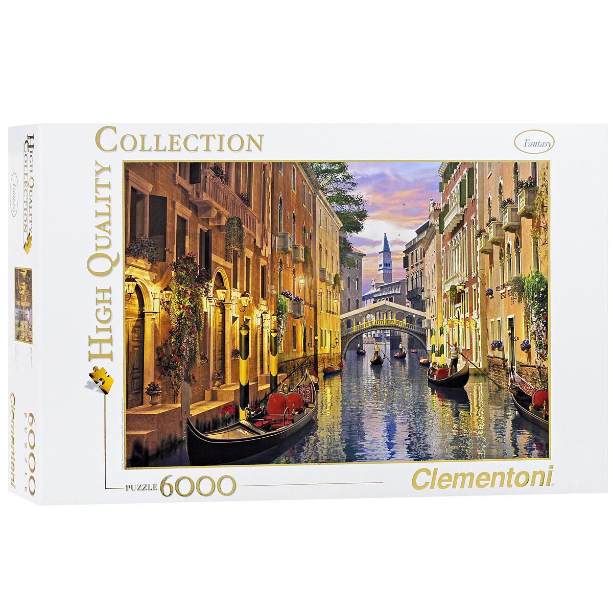 Венеция. Пазл, 6000 элементов36517Пазл Clementoni Венеция, без сомнения, придется вам по душе. Частичка романтичной Италии у вас дома - такое возможно! Венеция - один из самых красивых городов Европы, вряд ли где-то еще найдется столько потрясающих, живописных видов и панорам. Проведите время за увлекательным и полезным занятием - собрите пазл, включающий в себя 6000 элементов, и вы получите великолепную картину венецианского канала, мостов, архитектурных фасадов и, конечно, гондол. Пазл - великолепная игра для семейного досуга. Сегодня собирание пазлов стало особенно популярным, главным образом, благодаря своей многообразной тематике, способной удовлетворить самый взыскательный вкус. А для детей это не только интересно, но и полезно. Собирание пазла развивает мелкую моторику у ребенка, тренирует наблюдательность, логическое мышление, знакомит с окружающим миром, с цветом и разнообразными формами.