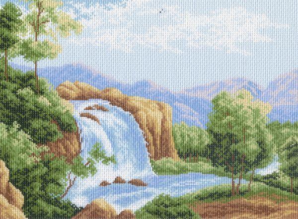 Канва с рисунком для вышивания Водопад, 37 см х 49 см. 685551055Канва с рисунком для вышивания Водопад изготовлена из хлопка. Вышивка выполняется в технике полный крестик в 2-3 нити или полукрестом в 4 нити. Создайте свой личный шедевр - красивую вышитую картину. Работа, выполненная своими руками, станет отличным подарком для друзей и близких! УВАЖАЕМЫЕ КЛИЕНТЫ! Обращаем ваше внимание, на тот факт, что цвет символа на ткани может отличаться от реального цвета нити мулине. Рекомендуемое количество цветов: 14.