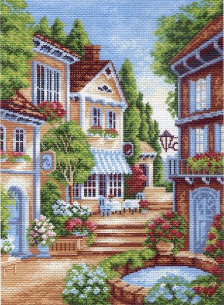 Канва с рисунком для вышивания Красивый дворик, 37 см х 49 см. 662551047Канва с рисунком для вышивания Красивый дворик изготовлена из хлопка. Вышивка выполняется в технике полный крестик в 2-3 нити или полукрестом в 4 нити. Создайте свой личный шедевр - красивую вышитую картину. Работа, выполненная своими руками, станет отличным подарком для друзей и близких! УВАЖАЕМЫЕ КЛИЕНТЫ! Обращаем ваше внимание, на тот факт, что цвет символа на ткани может отличаться от реального цвета нити мулине. Рекомендуемое количество цветов: 19.