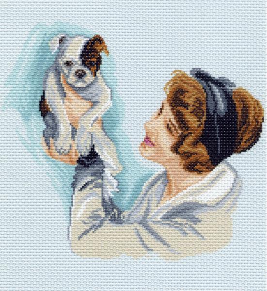 Канва с рисунком для вышивания Дама с собачкой, 33 см х 45 см. 860551087Канва с рисунком для вышивания Дама с собачкой изготовлена из хлопка. Рисунок-вышивка выполненный на такой канве, выглядит очень оригинально. Вышивка выполняется в технике полный крестик в 2-3 нити или полукрестом в 4 нити. Для этого возьмите отрез (60 см) мулине нужного цвета, который состоит из 6 ниточек. Вышивание отвлечет вас от повседневных забот и превратится в увлекательное занятие! Работа, сделанная своими руками, создаст особый уют и атмосферу в доме и долгие годы будет радовать вас и ваших близких, а подарок, выполненный собственноручно, станет самым ценным для друзей и знакомых. Рекомендуемое количество цветов: 22. Не рекомендуется стирать или мочить рисунок на канве перед вышиванием. УВАЖАЕМЫЕ КЛИЕНТЫ! Обращаем ваше внимание, на тот факт, что цвет символа на ткани может отличаться от реального цвета нити мулине.