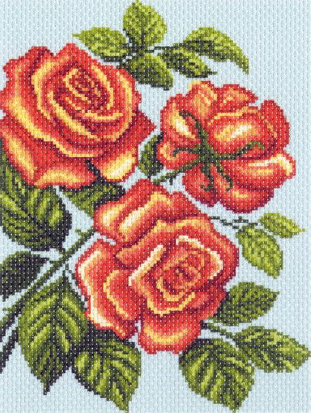 Канва с рисунком для вышивания Желтые розы, 28 см х 34 см. 1315426195_1315Канва с рисунком для вышивания Желтые розы изготовлена из хлопка. Вышивка выполняется в технике полный крестик в 2-3 нити или полукрестом в 4 нити. Создайте свой личный шедевр - красивую вышитую картину. Работа, выполненная своими руками, станет отличным подарком для друзей и близких! УВАЖАЕМЫЕ КЛИЕНТЫ! Обращаем ваше внимание, на тот факт, что цвет символа на ткани может отличаться от реального цвета нити мулине. Рекомендуемое количество цветов: 13.