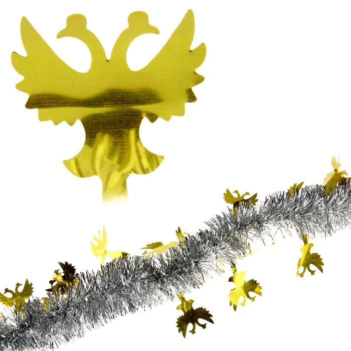 Мишура новогодняя Sima-land, цвет: серебристый, золотистый, диаметр 5 см, длина 2 м. 279370279370Мишура новогодняя Sima-land, выполненная из двухцветной фольги, поможет вам украсить свой дом к предстоящим праздникам. Мишура армирована, то есть имеет проволоку внутри и способна сохранять приданную ей форму. Новогодняя елка с таким украшением станет еще наряднее. Новогодней мишурой можно украсить все, что угодно - елку, квартиру, дачу, офис - как внутри, так и снаружи. Можно сложить новогодние поздравления, буквы и цифры, мишурой можно украсить и дополнить гирлянды, можно выделить дверные колонны, оплести дверные проемы. Коллекция декоративных украшений из серии Зимнее волшебство принесет в ваш дом ни с чем несравнимое ощущение праздника! Создайте в своем доме атмосферу тепла, веселья и радости, украшая его всей семьей.