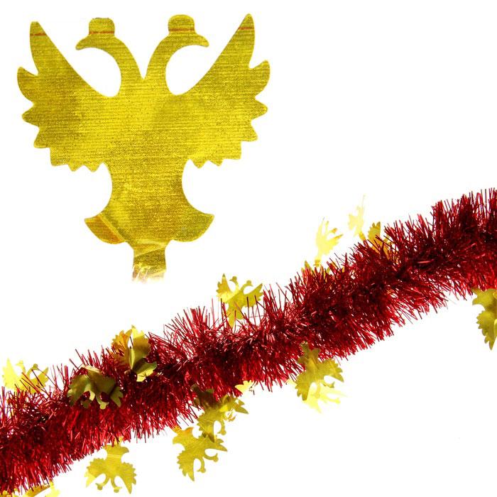 Мишура новогодняя Sima-land, цвет: красный, золотистый, диаметр 5 см, длина 2 м. 279371279371Мишура новогодняя Sima-land, выполненная из двухцветной фольги, поможет вам украсить свой дом к предстоящим праздникам. Мишура армирована, то есть имеет проволоку внутри и способна сохранять приданную ей форму. Новогодняя елка с таким украшением станет еще наряднее. Новогодней мишурой можно украсить все, что угодно - елку, квартиру, дачу, офис - как внутри, так и снаружи. Можно сложить новогодние поздравления, буквы и цифры, мишурой можно украсить и дополнить гирлянды, можно выделить дверные колонны, оплести дверные проемы. Коллекция декоративных украшений из серии Зимнее волшебство принесет в ваш дом ни с чем несравнимое ощущение праздника! Создайте в своем доме атмосферу тепла, веселья и радости, украшая его всей семьей.