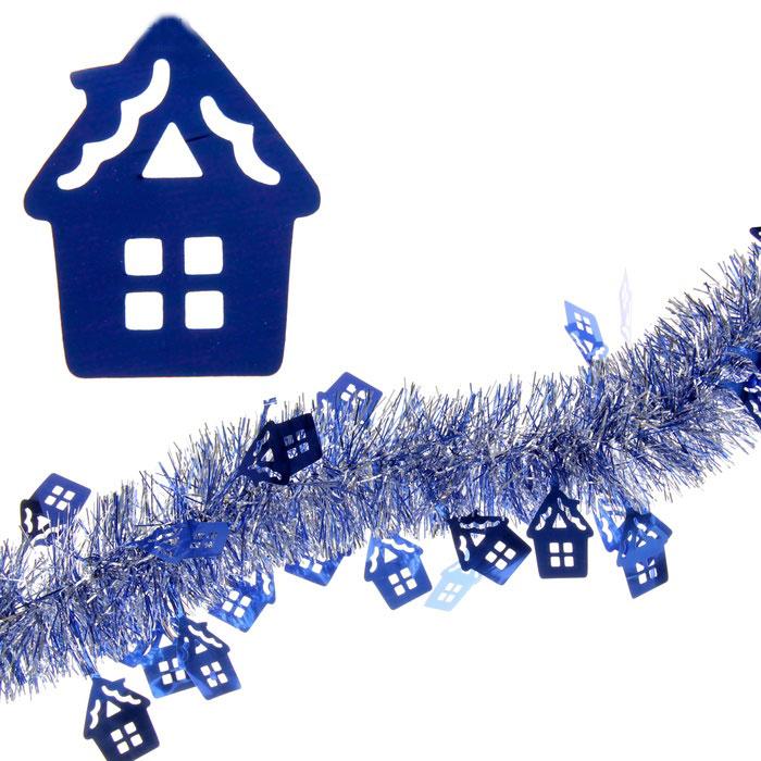 Мишура новогодняя Sima-land, цвет: синий, серебристый, диаметр 7 см, длина 2 м. 279375279375Мишура новогодняя Sima-land, выполненная из двухцветной фольги, поможет вам украсить свой дом к предстоящим праздникам. Мишура армирована, то есть имеет проволоку внутри и способна сохранять приданную ей форму. Новогодняя елка с таким украшением станет еще наряднее. Новогодней мишурой можно украсить все, что угодно - елку, квартиру, дачу, офис - как внутри, так и снаружи. Можно сложить новогодние поздравления, буквы и цифры, мишурой можно украсить и дополнить гирлянды, можно выделить дверные колонны, оплести дверные проемы. Коллекция декоративных украшений из серии Зимнее волшебство принесет в ваш дом ни с чем несравнимое ощущение праздника! Создайте в своем доме атмосферу тепла, веселья и радости, украшая его всей семьей.