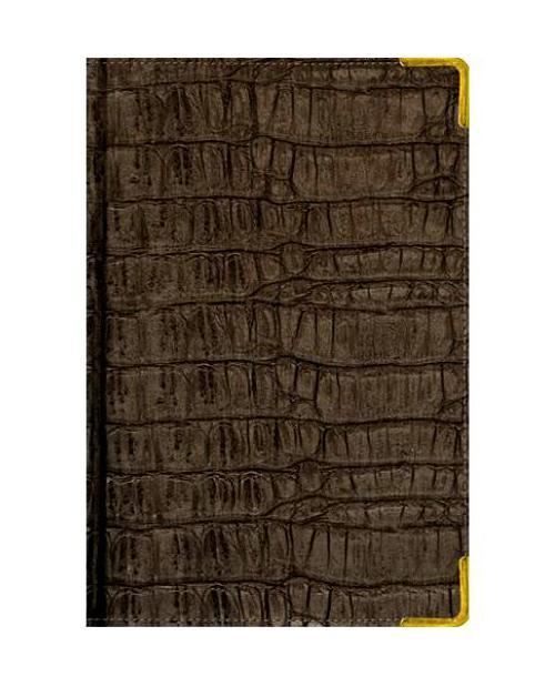 Ежедневник А6 Недатированный Skin (серо-коричневый) 152л. (BUSINESS PRESTIGE) Искусственная кожа с поролономЕКП15615203В линейке бизнес-ежедневников представлены датированные, полудатированные и недатированные внутренние блоки на офсетной бумаге плотностью 70гр.м. Коллекция прекрасно подходит в качестве подарка. Обложка обладает возможностью термотиснения. Внутренний блок прошит, что гарантирует отсутствие потери листов при активном использовании. Цветные форзацы подчеркивают высокий статус ежедневника. Металлические скругленные углы защищают эту серию продукции при активном использовании. Особый шарм и статус ежедневникам придает разнообразие отделок поверхностей. Исследование с фокус-группами показало, что качество текстур неотличимо от оригинальных поверхностей. Доступный статус - кредо коллекции Business Prestige! Виды отделки: Ancient (гладкая и мягкая кожа), Iguana, Skin, Gold, Nappa, Croco, Grand croco, Impact. Разметка: . Бумага: . Формат: А6. Пол: Унисекс. Особенности: металлические уголки, цветной торец (золото), бумага тонированная, ляссе 2шт..