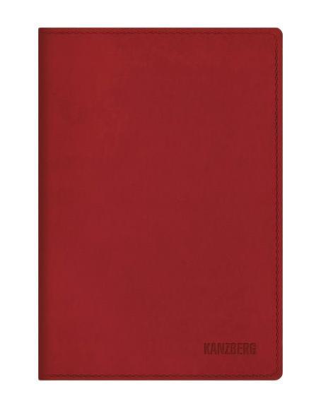 """Listoff Ежедневник А5 Недатированный """"Красный"""" 152л. (KANZBERG Premium collection) Искусственная кожа, мягкая обложка ЕКК51515202"""