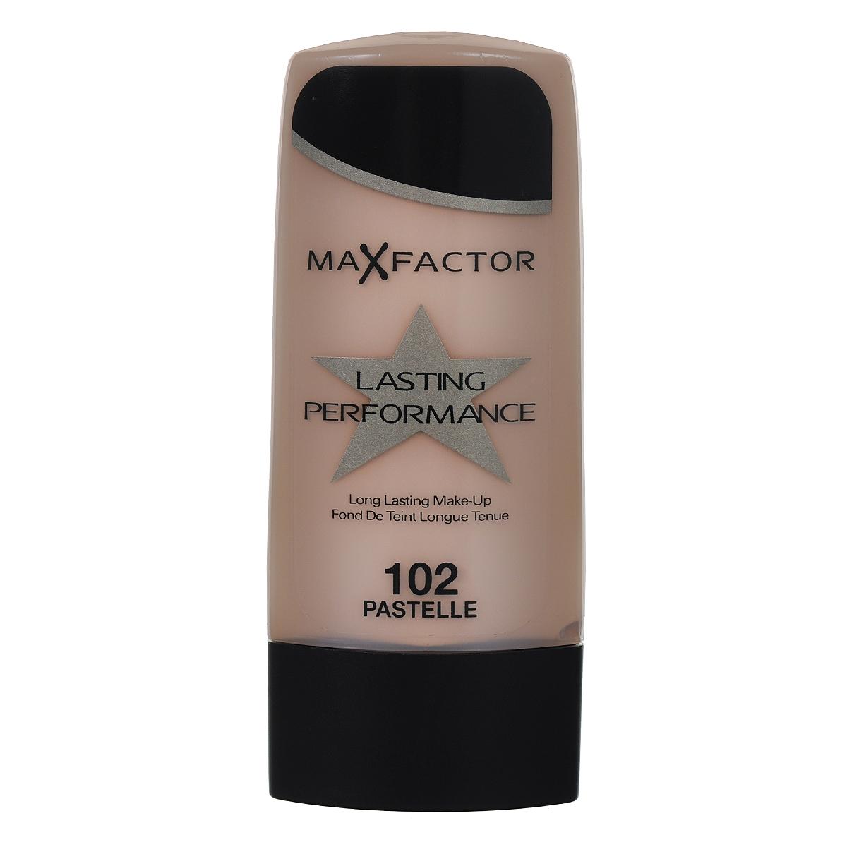 Max Factor Основа под макияж Lasting Perfomance, тон №102 Pastelle, 35 мл81455016Max Factor Lasting Perfomance - великолепная, по-настоящему стойкая тональная основа. Держится в течение 8 часов, не смазываясь и не оставляя следов на одежде. Создает красивый полуматовый эффект. Скрывая недостатки кожи, дарит ощущение легкости и естественности. Не ложится на кожу полосами, не забивает поры и не вызывает появления угревой сыпи. Без запаха. Одна из причин, по которой нанесенный на кожу Lasting Performance не вызывает ощущения чего-то неестественного, это входящие в его состав силиконы. Они делают основу более легкой и менее жирной. Товар сертифицирован.