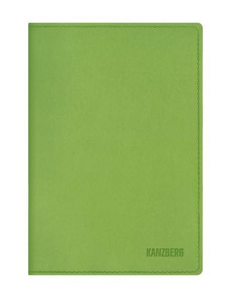 Ежедневник А6 Недатированный Салатовый 152л. (KANZBERG Premium collection) Искуственная кожа, мягкая обложкаЕКК61515203Ежедневники KANZBERG Premium collection - это великолепное сочетание высокого качества и стильного дизайна. Ежедневник KANZBERG Premium collection комфортен в использовании. Удобные размеры позволят всегда носить его с собой и помогут правильно организовать свой день. Стильный дизайн ежедневника с термотиснением и цветным торцом идеально подчеркнет индивидуальность своего обладателя и дополнит его деловой стиль. Закладки (ляссе) помогут быстро найти нужные страницы, а недатированный блок позволит начать вести ежедневник с любого дня. Ежедневник KANZBERG Premium collection - это неотъемлемый атрибут современного делового человека, который ценит свое время, комфорт, качество и стиль. Разметка: . Бумага: офсет. Формат: А6. Пол: Унисекс. Особенности: скругленные уголки, цветной торец блока, ляссе, термотиснение.